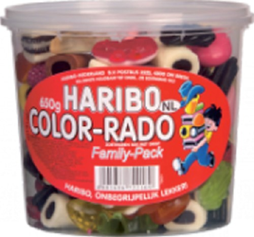 COLORADO HARIBO 650GR WINE GUM + ENGELSE DROP 650 GRAM