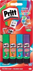 LIJMSTIFT PRITT 2270013 10GR FUN COLORS 4 STUK