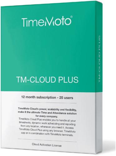 SAFESCAN TIMEMOTO TM-CLOUD+ 25 USER SUBSCRIBTION 1 STUK