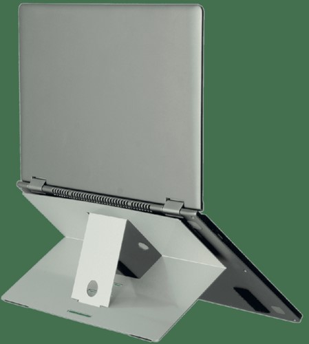 LAPTOPSTANDAARD R-GO ATTACHABLE ZILVER 1 STUK