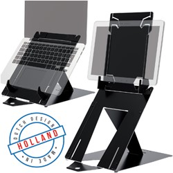 LAPTOPSTANDAARD R-GO RISER DUO LAPTOP/TABLET ZWART 1 STUK