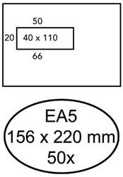 ENVELOP HERMES BANK DIGITAL-50 EA5 VL STR 90GR WIT 50 STUK