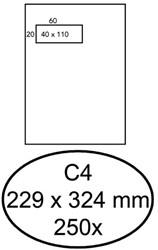 ENVELOP HERMES DIGITAL C4 A VL DFV85 120GR ZK WIT 250 STUK