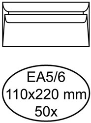 ENV QUANTORE EXCELLENT BANK EA5/6 110X220 100GR WT 50 STUK