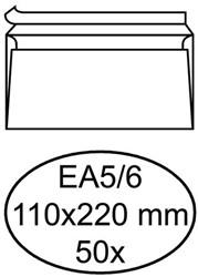 ENVELOP HERMES BANK EA5/6 110X220 80GR ZK WIT 50 STUK