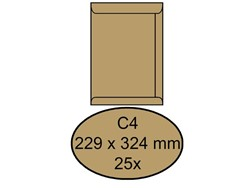 ENVELOP CLEVERMAIL AKTE C4 229X324 80GR 25ST BRUIN 25 STUK