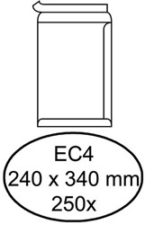 ENVELOP HERMES AKTE EC4 240X340 ZK 120GR 250ST WIT 250 STUK