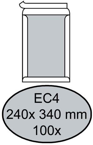 ENVELOP QUANTORE BORDRUG EC4 240X340 ZK 120GR WIT 100 STUK