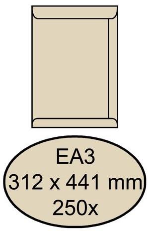ENVELOP QUANTORE AKTE EA3 312X441 120GR CREMEKRAFT 250 STUK