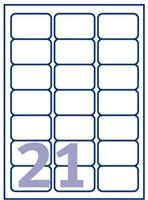 ETIKET AVERY L7560-25 63.5X38.1MM TRANSP 525ST 25 VEL-2