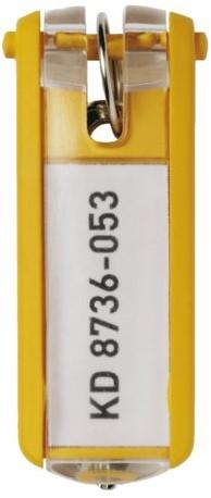 SLEUTELLABEL DURABLE MET RING GEEL 1 Stuk