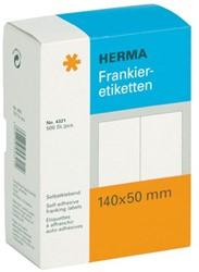 ETIKET HERMA FRANKEER 4321 140X50MM DUBBEL 500ST 1 STUK