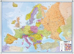 LANDKAART LEGAMASTER EUROPA 102X141 BESCHRIJFB/MAGN 1 STUK