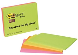 MEMOBLOK 3M POST-IT 64454SS 99X149MM SS ASS 4 STUK