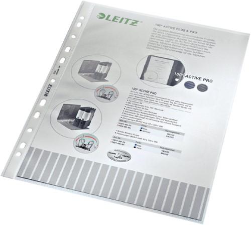 SHOWTAS LEITZ 4704 A4 4R PP 0.10MM NERF 100 Stuk