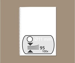 DRAADRUG GBC 11MM 34RINGS A4 WIT 100 STUK