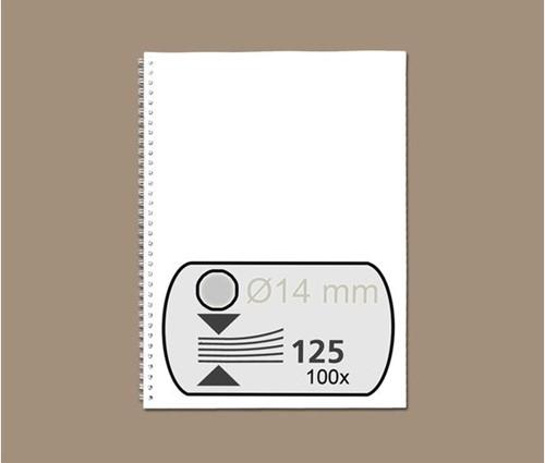 DRAADRUG GBC 14MM US 21RINGS A4 ZILVER 100 STUK