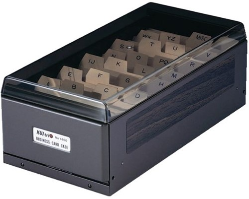KAARTENBAK KW-TRIO 5.5X9CM 600KRT METAAL ZWART 1 STUK