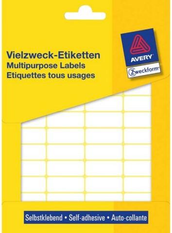 ETIKET AVERY ZWECK 3318 22X18MM 1200ST 1 PAK