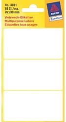 ETIKET AVERY ZWECK 3081 76X39MM 18ST 1 PAK