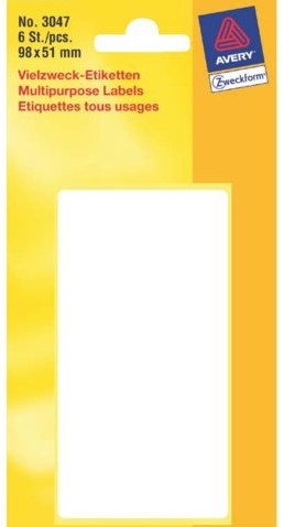 ETIKET AVERY ZWECK 3047 98X51MM 6ST 1 PAK