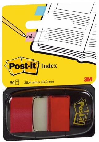INDEXTABS 3M POST-IT 6801 25MM ROOD 50 STUK-2