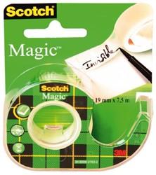 PLAKBAND 3M SCOTCH 19MMX7.5M MET TAPEHOUDER MAGIC 1 STUK