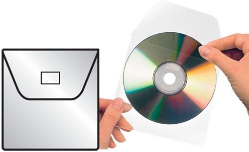 CD HOES 3L 127X127MM MET KLEP NIET ZELFKLEVEND 25 Stuk