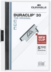 KLEMMAP DURABLE 2200 A4 PL/TR 3MM WIT 1 STUK