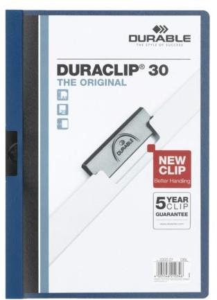 KLEMMAP DURABLE 2200 A4 PL/TR 3MM BLAUW 1 STUK
