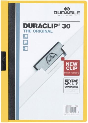 KLEMMAP DURABLE 2200 A4 PL/TR 3MM GEEL 1 Stuk
