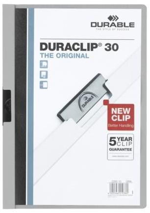 KLEMMAP DURABLE 2200 A4 PL/TR 3MM GRIJS 1 STUK