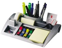 BUREAU ORGANIZER 3M POST-IT C50 ZILVER 1 STUK
