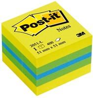 MEMOBLOK MINIKUBUS 3M POST-IT 2051L 51X51MM LEMON 400 VEL