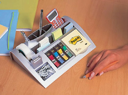 BUREAU ORGANIZER 3M POST-IT C50 ZILVER 1 STUK-2