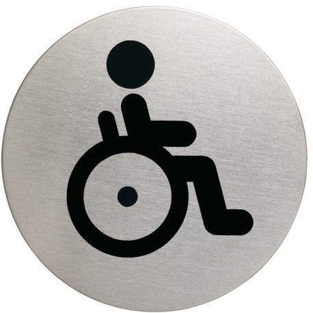 INFOBORD PICTOGRAM DURABLE WC INVALDE ROND 83MM 1 STUK