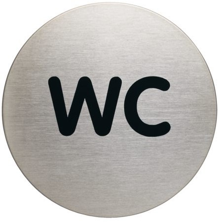 INFOBORD PICTOGRAM DURABLE WC ROND 83MM 1 STUK
