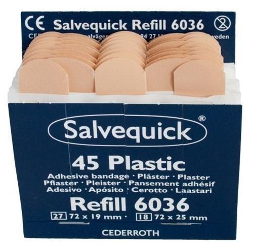 SALVEQUICK NAVULLING PLEISTERS 6X45ST 6036 DOOS 6 ST.